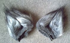 Wolf Fur Mini Ears Handmade-Long Hair Faux от KawaiDesuCorporation