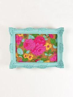DIY | Bandeja ou quadro florido