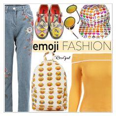 """Wink, Wink: Emoji Fashion"" by teoecar ❤ liked on Polyvore featuring emojifashion"