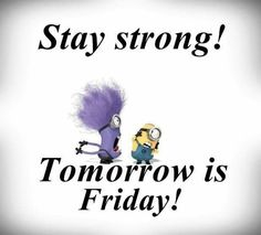 Tomorrow is Friday Good Morning Thursday, Good Morning Wishes, Like Quotes, Funny Quotes, Tomorrow Is Friday, Have A Nice Life, Weekday Quotes, Minions Love, Smiles And Laughs