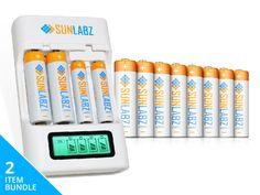 SunLabz Rechargeable AA Battery Bundle