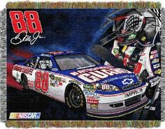 Northwest Co. 1JRM/05200/0010/RET Nascar Dale Jr. NG Driver Tapestry Throw by Northwest. $30.96. Vibrant, True to Life colors. Tough, Durable construction. Officially Licensed Product. This loom woven triple layer tapestry throw blanket is fringed on all 4 sides. This blanket can be used at the game; on a picnic; in the bedroom; or cuddle under it in the den while watching the game. Use it as a room accent; bed covering; throw blanket or wall hanging. They are easy to care ...