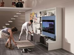 Download the catalogue and request prices of Smart living By ozzio italia, sectional tv wall system design Marco Pozzoli