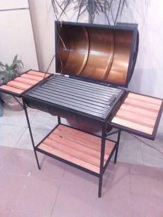 Azador Grill Argentina Al Carbon 80 × 40 abnehmbar - USD Oil Drum Bbq, Backyard Bbq Pit, Bbq Stove, Barrel Bbq, Best Charcoal Grill, Diy Grill, Outdoor Stove, Bois Diy, Bbq Kitchen