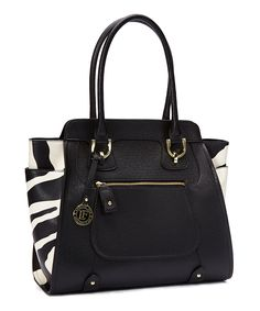 Look what I found on #zulily! London Fog Black Large Daphne Tote by London Fog #zulilyfinds