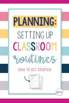 Setting up classroom routines is one of the most important things you can do to get ready to teach your classroom. This free resource will help you to think though many routines that are used day to day in the classroom. Classroom Routines, Classroom Management Strategies, Classroom Procedures, School Routines, Classroom Organization, Behavior Management, Classroom Decor, 5th Grade Classroom, Science Classroom