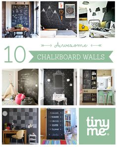 10 Awesome Chalkboard Walls ~ Tinyme