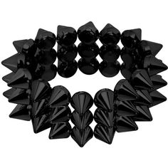 Black spike bracelet ❤ liked on Polyvore featuring jewelry, bracelets, accessories, black, spike bangle and spikes jewelry