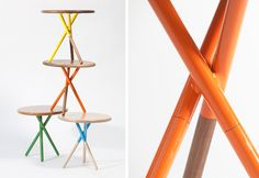 soft collection :: colourful round side tables for kids' spaces