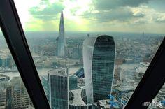 View from Gherkin  #London #Gherkin #WalkieTalkieBuilding #TheShard #architecture #skyscrapers