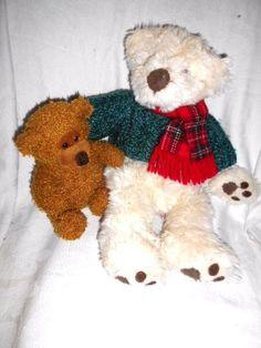 "Russ Bundles & Bertie soft toy teddies - 14"" & 8"" H #Russ"