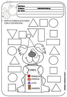A Arte de Ensinar e Aprender: Atividade pronta - Formas geométricas
