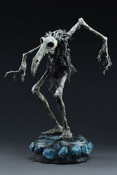 mixed media and acrylic Dug Stanat 3d Fantasy, Dark Fantasy, Mixed Media Sculpture, Sculpture Art, Clay Monsters, Polymer Clay Sculptures, Monster Design, Arte Horror, Creature Concept
