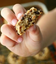 MIH Recipe Blog: Peanut Butter Oatmeal Cookies {No oil, no flour, no eggs, and no added sugar in these cookies!} My kids loved these!