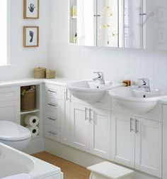 Gorgeous Small Bathroom Layouts Small Narrow Bathroom Layout Ideas Regarding Narrow Bathroom Ideas Long Narrow Bathroom Ideas — Bossington Interior Design Small Narrow Bathroom, Small Double Sink Vanity, Small White Bathrooms, Small Bathroom Ideas On A Budget, Small Bathroom Layout, Small Bathroom Storage, Bath Storage, Double Sinks, White Bathroom Furniture