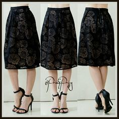 Selling this Lace & Black Roses in my Poshmark closet! My username is: prim_and_prissy. #shopmycloset #poshmark #fashion #shopping #style #forsale #@Prim&Prissy  #Dresses & Skirts
