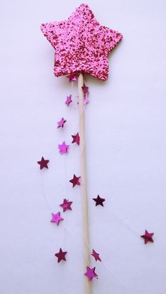 Gold Glitter Star Fairy Wand. To help your child remember they can always make their own magic.