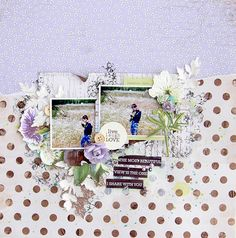 """""""Live Laugh Love"""" layout by Alena Grinchuk for Kaisercraft using 'Botanica' Collection - Wendy Schultz ~ Scrapbook Pages 3."""