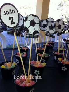 Diy Birthday Gifts For Friends, Soccer Birthday Parties, Football Birthday, Soccer Party, Birthday Party Decorations, Party Themes, Soccer Centerpieces, Soccer Wedding, Soccer Banquet