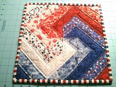 LOVE the pattern! This would be GREAT to expand to a wall hanging, throw, or even a bed sized quilt!