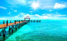 Photo about Exotic tropical resort. Jetty near Cancun, Mexico. Travel, Tourism and Vacations Concept. Vacation Club, Vacation Deals, Vacation Trips, Beach Wall Murals, Wall Art, Cancun All Inclusive, Tropical Beach Resorts, Beach Hotels, Paradise Travel