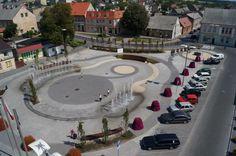 new city square in Szubin, Poland