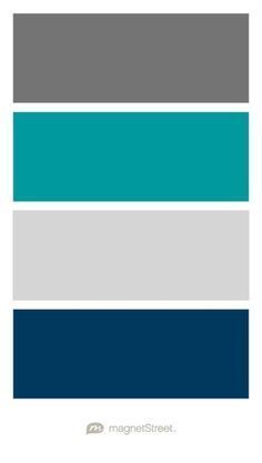 Charcoal Teal Silver And Navy Wedding Color Palette Custom Created