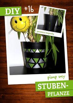 Grünpflanzen schön und gut, aber Übertöpfe sehen doch meistens langweilig aus. Mit Klebefolie kannst du sie individuell gestalten. https://plus.google.com/u/2/b/108646575747751794944/ deinestadtklebt/posts