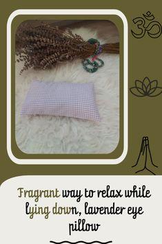 Lavender eye pillow . Gingham meditation eye pillow #gingham #etsy #purple #lavender Lavender Pillow, Lavender Seeds, Gingham, Eye, Pillows, Handmade Gifts, Kid Craft Gifts, Craft Gifts, Cushions