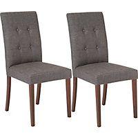 Adaline Pair of Dining Chairs - Walnut Effect.