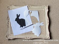 Hippety Hoppety Easter is On Its Way! { Framed Bunny Silhouette } - Uncommon Designs |