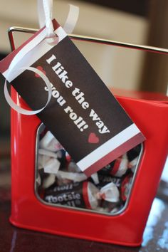 """I Like the Way You Roll"" Valentine's Day Favor Card"