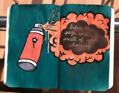 Infuse your page....i infused mine i just forgot to draw the bottle on it! #wreckthisjournal #wtj #perfume
