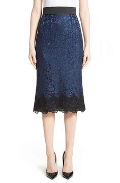 Dolce&Gabbana Lace Pencil Skirt