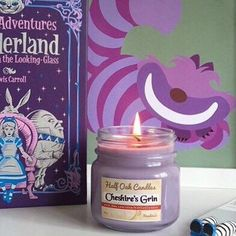 Strawberry Candle Soy Candle Alice in Wonderland Soy Candle Scented Candle Soy Wax Candle Strawberry Scent Container Candle Home Decor Fruit by HalfOakCandles on Etsy https://www.etsy.com/listing/255264617/strawberry-candle-soy-candle-alice-in