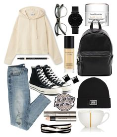 """Untitled #315"" by terminally-pretty-hippy on Polyvore featuring Bare Escentuals, Converse, French Connection, Vans, CLUSE, Kenneth Jay Lane, Witchery, Gucci, Burberry and Dibbern"