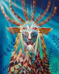 Poly Art - Forest Spirit (Princess Mononoke) by elvishatheart.deviantart.com on @DeviantArt