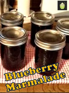 Blueberry Marmalade! A great recipe, tried and true since the 1960's and a family favorite!