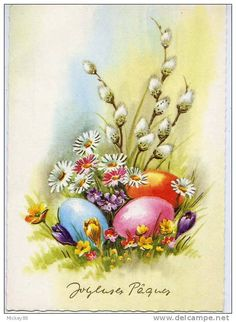 ♥ Joyeuses Paques ... colourful eggs & flowers