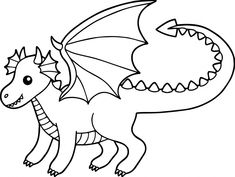 Baby Dragon Coloring Pages – coloring.rocks!