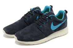 separation shoes 88580 ef145 Nike Roshe Run ΧΑΜΗΛΗ ΤΙΜΗ άνδρες Suede μαύρος μπλε λευκό παπουτσια running  Nike Free 3,