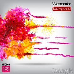 Gorgeous watercolor graffiti background vector