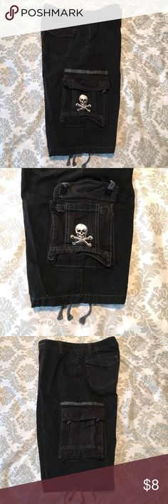 SK2 Apparel youth's shorts. Used. Size 16. Black SK2 Apparel youth's cargo shorts. Used. Size 16. Black. 100% Cotton. Waist adjustable elastic band/buttons for better fitting. Valco cargo pocket flaps. SK2 Apparel Bottoms Shorts