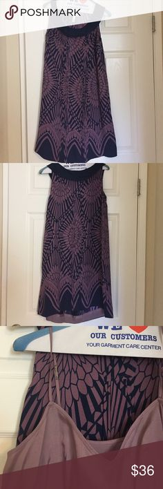 Shift dress by Moulinnette Seours brand. Shift dress by Moulinnette Seours brand. Maybe and navy color. Fabric tag is removed but it feels like a silk blend. Under-slip imperfection as pictured Anthropologie Dresses Midi