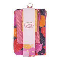 Travel Bags Set 3 - Wild Posy | Sunnylife | Shut the Front Door – Shut the Front Door (NZ) Ltd