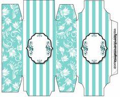 Fiesta Tiffany: Cajas para Imprimir Gratis.
