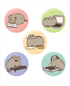 Pusheen buttons. How would these ~not~ improve my life???