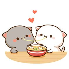 Cute little animals, cute funny animals, cute cats, kawaii drawings, cu Cute Love Pictures, Cute Cartoon Pictures, Cute Love Cartoons, Cute Love Gif, Beautiful Pictures, Cute Animal Drawings Kawaii, Cute Kawaii Animals, Kawaii Cat, Cute Drawings Of Animals