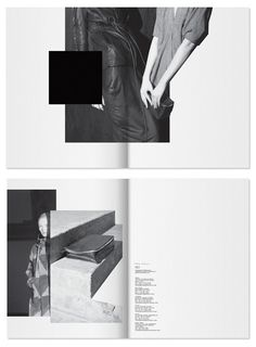 Rick Owens – PRECO F/W 12  I like the way of using two pages as one page.