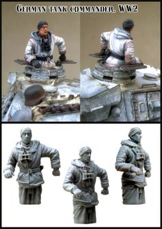 German Tank Commander from Evolution Miniatures. 1/35 scale figure perfect for an armored project